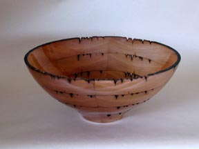 Recycled dock cedar bowl
